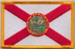 Florida Embroidered Flag Patch, style 08.